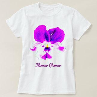 Camiseta vibrante del flower power