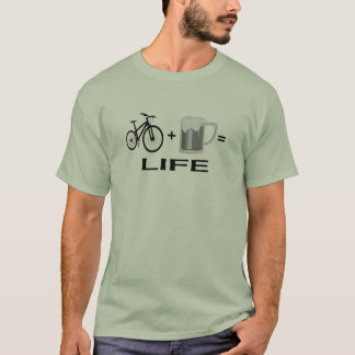 Camiseta Vida de la cerveza de las bicis