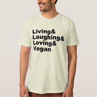Camiseta Vida y risa y amor y vegano (negro)