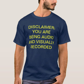 Camiseta video audio de la negación