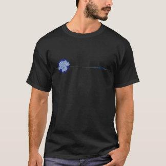 Camiseta video del negro de la sala de conciertos