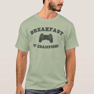 Camiseta Videojuegos, desayuno de campeones