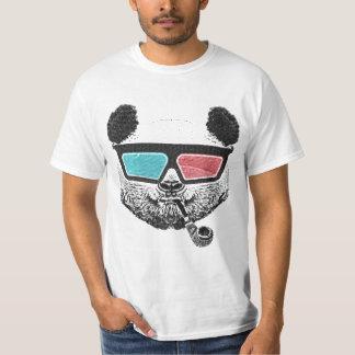 Camiseta Vidrios tridimensionales de la panda del vintage