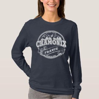 Camiseta Viejo blanco del círculo de Chamonix