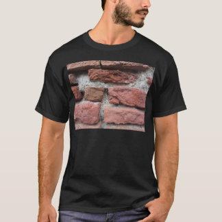 Camiseta Viejo fondo de la pared de ladrillo