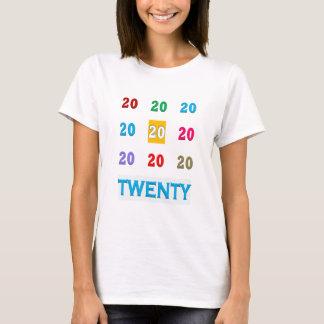 Camiseta vigésimo GIF ELEGANTE del vigésimo aniversario del