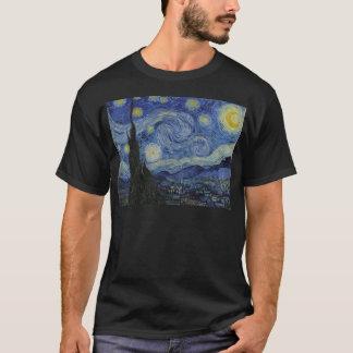 Camiseta Vincent van Gogh - noche estrellada. Pintura del