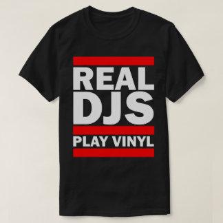 Camiseta Vinilo real del juego de Djs (OSCURO)