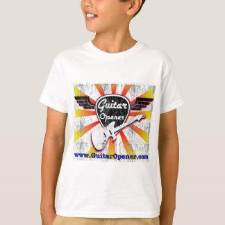 Camiseta Vintage del abrelatas de la guitarra