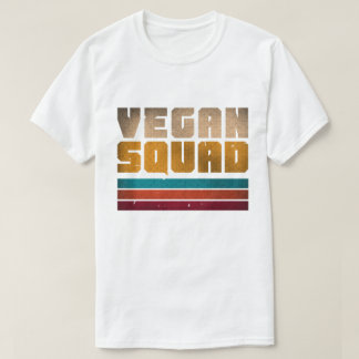 Camiseta Vintage del pelotón del vegano