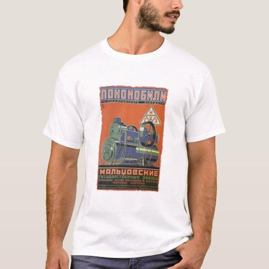 Camiseta Vintage soviet locomotive ad