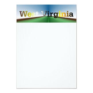CAMISETA Virginia Occidental Invitación 12,7 X 17,8 Cm