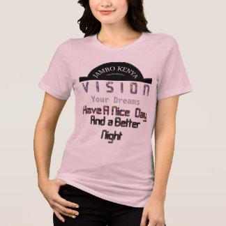 Camiseta Vision elegante su día de Jambo Kenia de los
