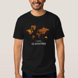 Camiseta visitada de los países (oscura)