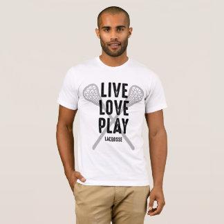 Camiseta viva de LaCrosse del juego del amor