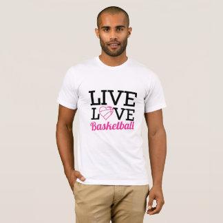 Camiseta viva del baloncesto del amor