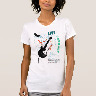 camiseta viva del concierto