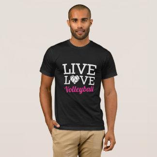 Camiseta viva del voleibol del amor
