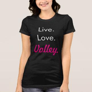 Camiseta viva del voleo del amor