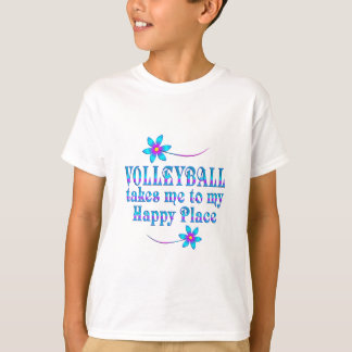 Camiseta Voleibol mi lugar feliz