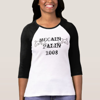 Camiseta voluta, occidental, McCain- Palin 2008 -