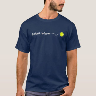 Camiseta Volveré el corte holgado al aire libre de la