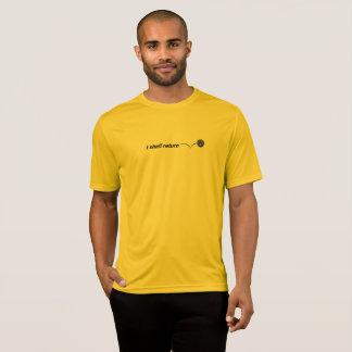 Camiseta Volveré la humedad interior Wicking de Pickleball