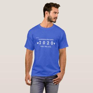 Camiseta Vote por alguien/cualquiera 2020 - Melania libre