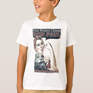 Camiseta Voto Ron Paul de las mujeres reales