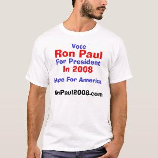 Camiseta Voto, Ron Paul, para el presidente, en 2008,