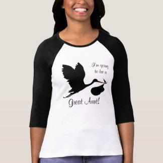 Camiseta Voy a ser una gran tía cigüeña negra