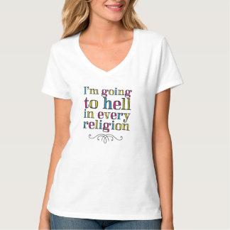 Camiseta Voy al infierno en cada religión
