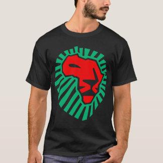 Camiseta Waka-waka africano de la cabeza del león. (lado 2)