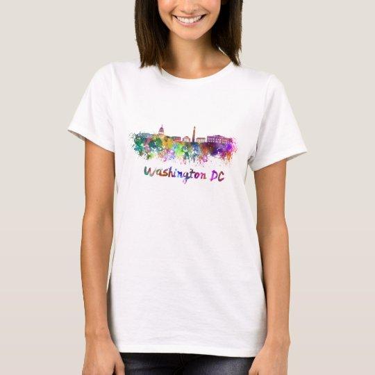 Camiseta Washington DC skyline in watercolor