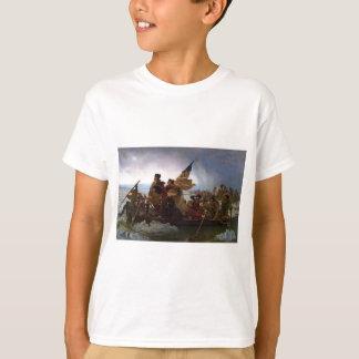 Camiseta Washington que cruza arte del Delaware - los