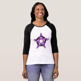 Camiseta Wiccan o símbolo pagano, comienzo púrpura del