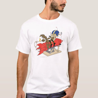 Camiseta Wile E. Coyote Launching Red Rocket