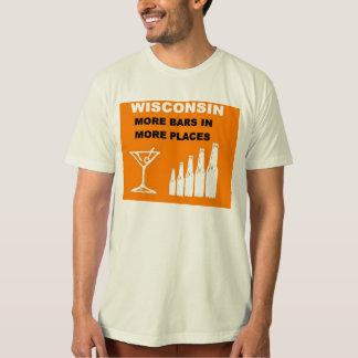 Camiseta Wisconsin más barras en más lugares