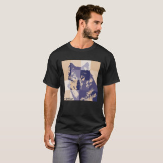 Camiseta wolf save wild life eco-social-messaje