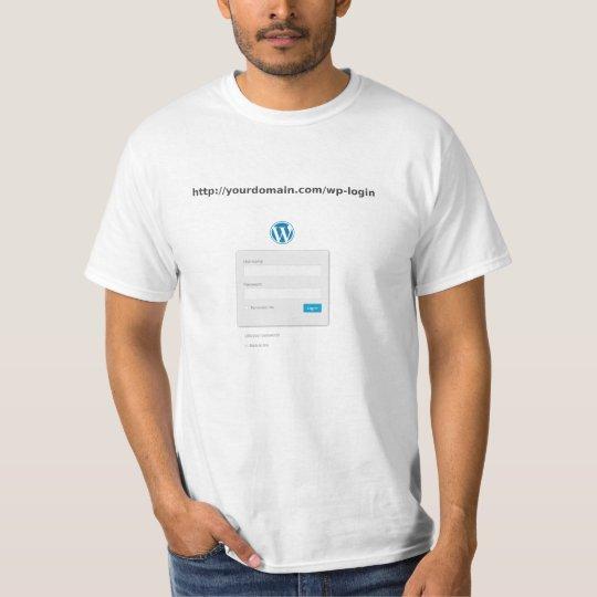 Camiseta Wordpress Login