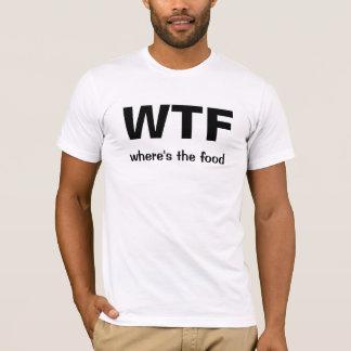 Camiseta WTF (donde está la comida)