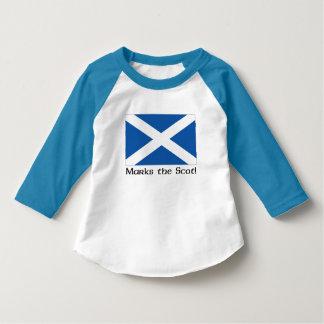 Camiseta X marcas el Scot - raglán azul