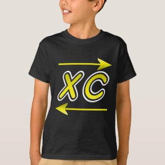 Camiseta XC oro y flecha blanca