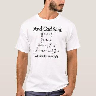 Camiseta Y dios dijo la forma integral de las ecuaciones