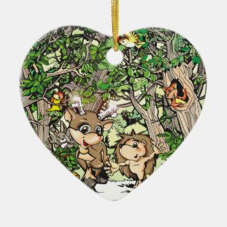 Camiseta y ornamento del corazón de Heddie Adorno Navideño De Cerámica En Forma De Corazón