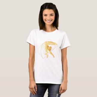 Camiseta Yoga de oro del coeficiente del gato el