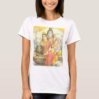 Camiseta Yoga Parvati, Shiva, Ganesh