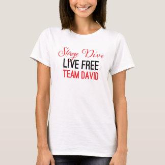 Camiseta Zambullida de la etapa - viva libremente en rojo