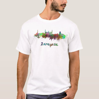 Camiseta Zaragoza skyline in watercolor