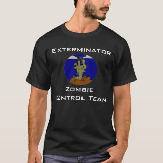 Camiseta ZCT, Exterminator, equipo del control del zombi